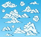 Clouds drawings on blue sky 1