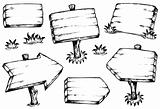 Wooden boards drawings collection