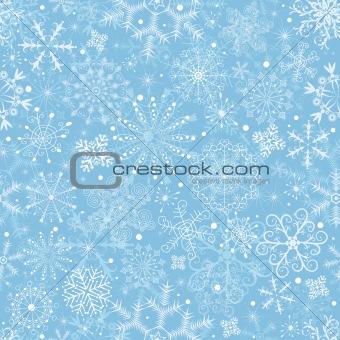 Blue pastel Christmas pattern