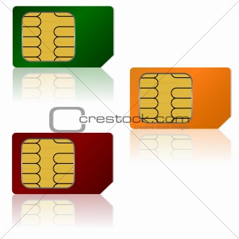 Set vector SIM cards.