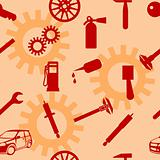 Auto Car Repair Service Icon Symbol.
