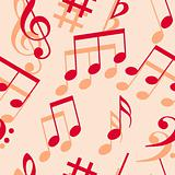 Music notes. Seamless wallpaper.