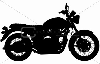 Classic motorbike silhouette