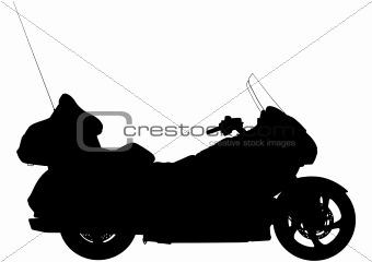 Touring motorbike silhouette