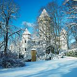 Konopiste Chateau in winter, Czech Republic