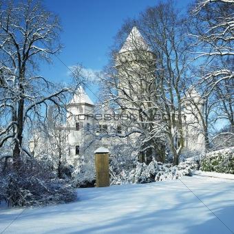 Konopiste Chateau in winter, Czech Republic