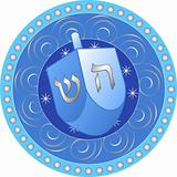Hanukkah design with dreidel