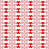 Seamless floral and heart pattern