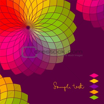 Abstract background with color flower vector wheel