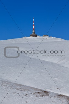 Costila peak in winter, Bucegi Mountains, Romania