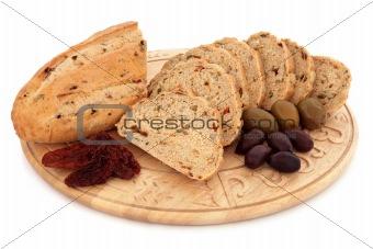 Olive and Sun Dried Tomato Bread