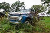 Abandoned Blue Truck