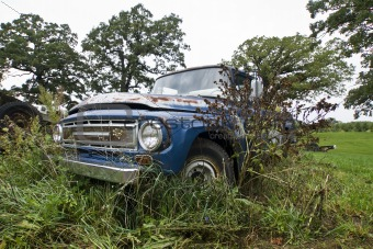 Abandoned Blue Truck