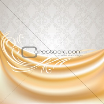 Beige curtain, silk tissue