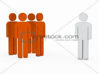 business team leader orange