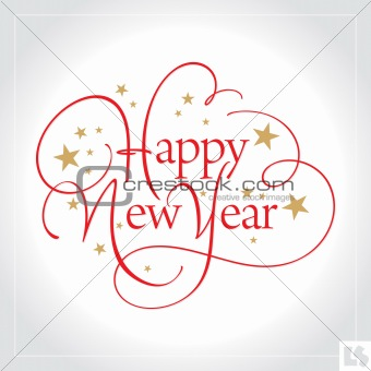new year hand lettering (vector)