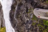 Trollstigen pass waterfall