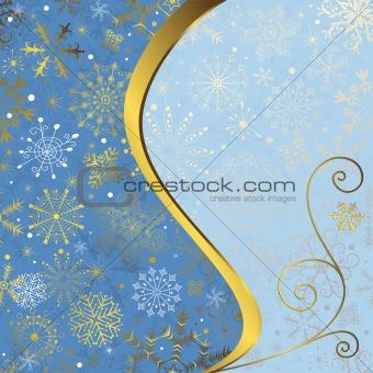 Christmas blue frame