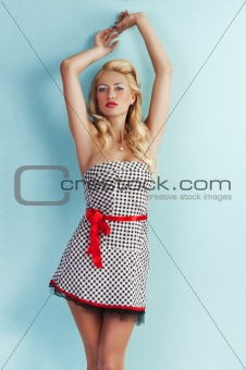 sensual girl in pin up style