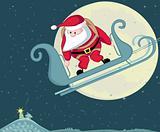Santa  skydiver
