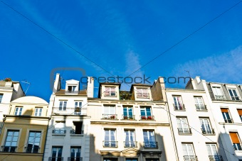beautiful Parisian streets view