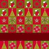 Christmas ornament seamless pattern greeting card