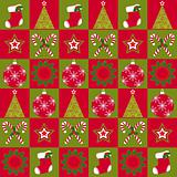 Christmas ornament seamless pattern