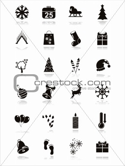 black christmas icons