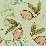 seamless pattern with almond
