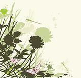 floral background with clover