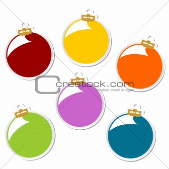 Christmas balls stickers
