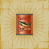 Retro Salmon Can