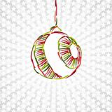 merry christmas toy ball xmas happy new year circle