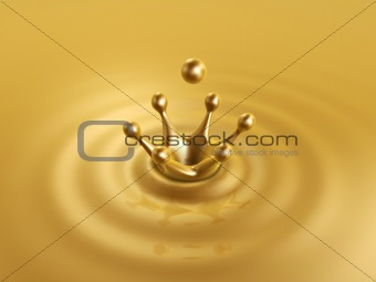 golden liquid drop crown