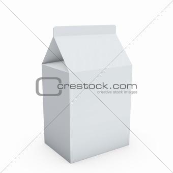 blank milk box