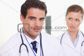 Assistant doctors standing next to each other