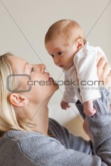 Mom holding her newborn