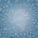 Handwritten quirky Merry Christmas background