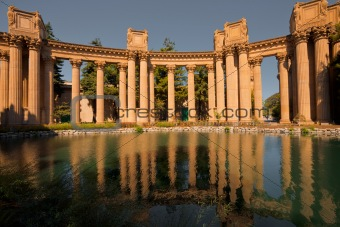 Palace Fine Arts Columns Reflection