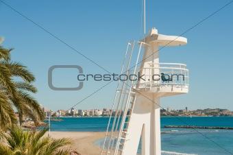 Lifeguard watchtower