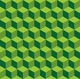 Isometric green pattern