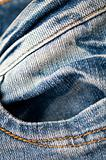 blue jeans texture with pocket detail