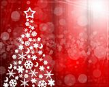 Abstract background with Christmas tree balls red and colored li
