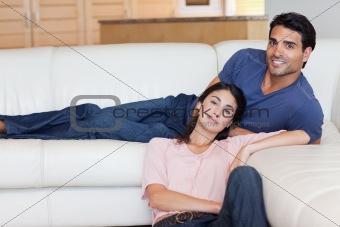Charming couple posing