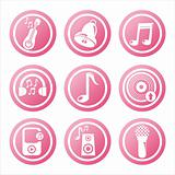 pink musical tools signs