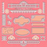 Vector set of vintage framed ornate labels &amp
