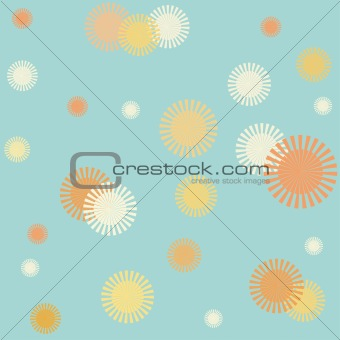 Bright suns seamless pattern