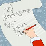 Santa greeting signs. Vector, Eps8