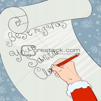 Santa greeting signs. Vector, Eps8
