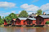 Famous wooden houses in Porvoo